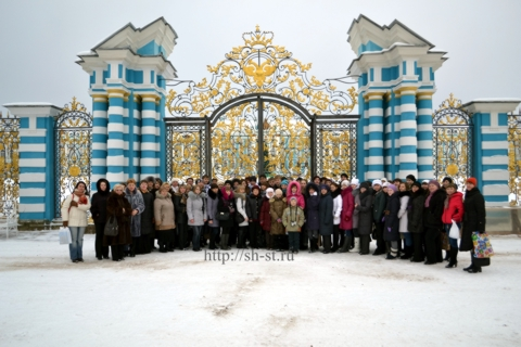 Фото на память.Екатерининский дворец февраль 2012
